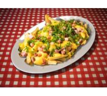 Картофель фри с сыром и беконом