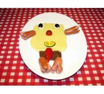 Губка Боб картофельное пюре, детские сосиски