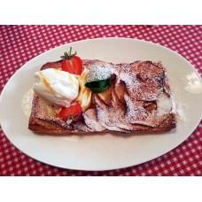 Тарт яблочный с ванильным соусом и мороженным