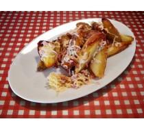Картофель по-селянски с сыром и беконом