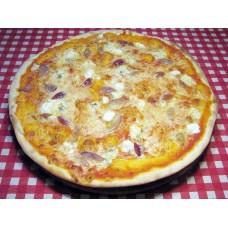Пицца четыре сыра с соусом песто