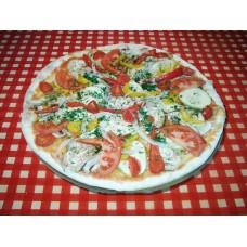 Пицца с овощами гриль на соусе Песто