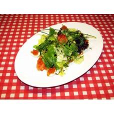 Салат с малосольной семгой и красной икрой