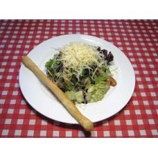 Салат с телятиной под нежным кунжутным соусом