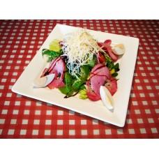 Салат с беконом, шпинатом и киви