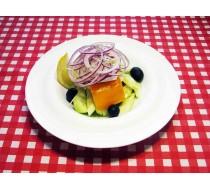 Салат «Греческий» с сыром фета и маслинами