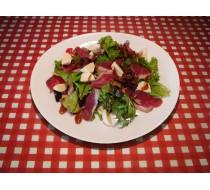 Салат с вяленым утиным филе