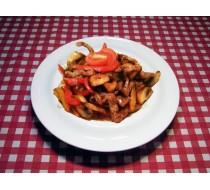 Теплый салат с телятиной Унаги