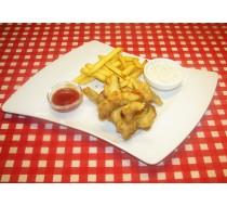 Фиш и чипс с двумя соусами